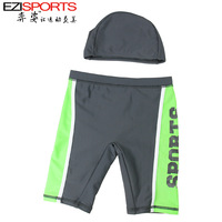 Two pieces free shipping Child spa male child swim trunks swimwear baby swimming pants ezi15037 1 - 13 swimming cap