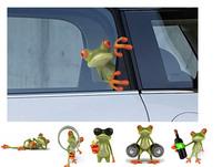 3D Three-dimensional Car Stickers / Funny Frog Realistic 3D Stereo Car Stickers / gecko car stickers rearview mirror garland