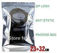 100 pcs Anti Static Shielding Bags 230x320mm ESD shielding bag Zip-Top Zipper Semi Transparent Packing bags