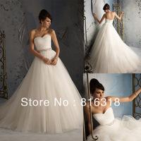 Free Shipping New Arrival Trumpet Sweetheart Beaded Strapless Floor-length Elegant Tulle Wedding Dresses Wedding Gown