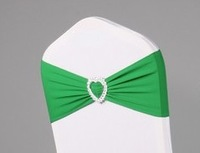 200 Free Shipping Hunter Green Lycra Sash With Buckle For Wedding