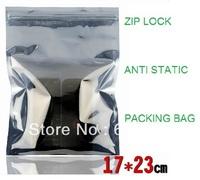 100pcs 170x230mm Anti Static Shielding Bags ESD shielding bag Zip-Top Zipper Semi Transparent Packing bags