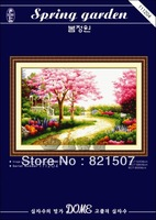 New design unfinished cross stitch kit cross-stitch sets,DOME cross stitch: Spring garden
