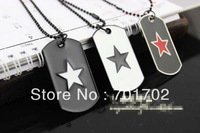 Free shipping 10pcs Metal Alloy Jewely Punk Hiphop Star Soldier card Pendant Carving Necklace Chain Necklace fashion 2013