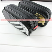 Free shipping M&G large capacity double zipper pencil cases boys girls cool stationery bags for school