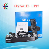 2013 newest and cheapest digital satellite receiver sky box f6 support gprs, youtube, wifi and iptv in factory free shipping