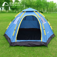 Fully-automatic outdoor camping tent tourism tents 6 - 8 hexagonal big tent