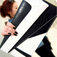 2014 Clutch Fashion Vintage Bag Briefcase Serpentine Pattern Color Block Day Women's Envelope Clutch Bag Handbag
