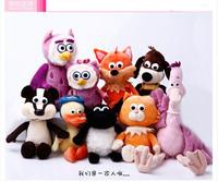 Lambling cartoon small timmy time plush educational toys full set of animal cartoon doll