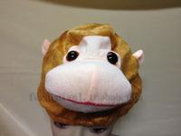 Monkey hat cartoon animal hat cute hat short plush animal hat wigs