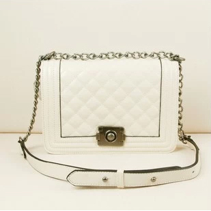 European and American style 2013 Genuine Cowhide Spring and Summer Latest Diamond lattice Shoulder Bags Handbags