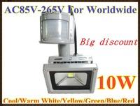 Big discount ! 240V 10W PIR LED Flood light White Warm with Motion Sensor Floodlight A85V-265V LW42