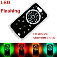 New Calling Sense LED Flash Light Case for Samsung Galaxy Note 2 N7100 Compass Style