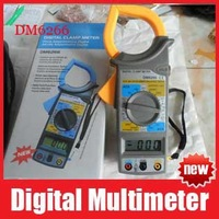 AC/DC Digital Clamp Electronic Tester Meter Tool Multimeter DMM Voltmeter DM6266 LCD Multimeter Clamp Meter Free Shipping