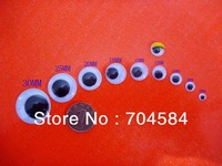 Free Shipping 500pcs Plastic Toy Eyes GOGLE EYE For Doll Accessories Mix 6mm/8mm/10mm/12mm/15mm