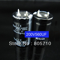 ORIGINAL 200V 560uF 22*40mm 105 degree  Aluminum Electrolytic Capacitor motherboard capacitor ,50pc/lot Free Shipping