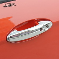 With Inteligent Entry ABS Chrome Side Door Handle Cover Protector Trim For Ford Ecosport 2013 2014