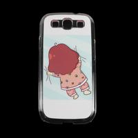 Free & Drop shipping asleep girl Crystal Transparent Diamond Hard Case Cover Skin For Samsung Galaxy S3 I9300 JS0491