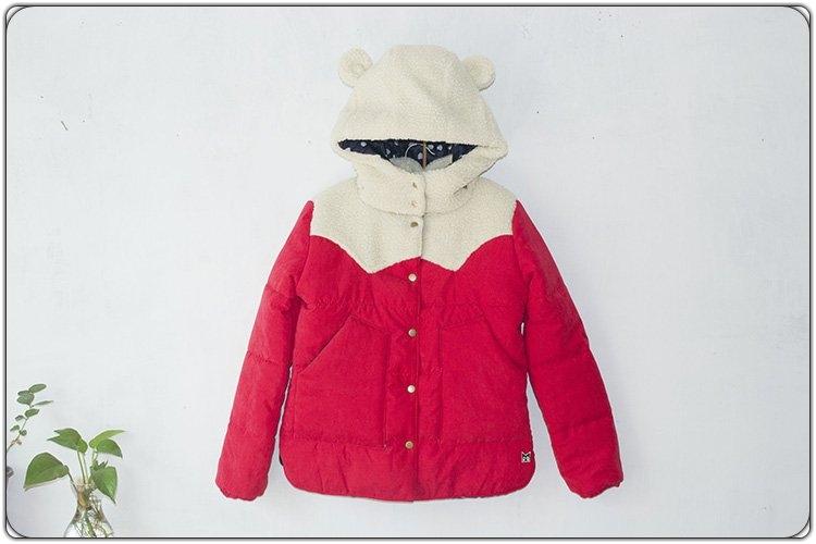 Berber fleece hat cotton-padded jacket thickening cotton-padded jacket wadded jacket outerwear women's short design(China (Mainland))