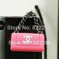 2014 fone de ouvido women handbag earphone jack anti dust plug 60pcs/lot free shipping