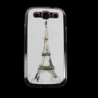 White tower Crystal Transparent Diamond Hard Case Cover Skin For Samsung GalaxyS3 III I9300 Drop&Free shipping JS0486