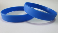 100pcs/Lot Blue Blank Cheapest Silicone Wristbands! Super Fast Shipping for Rush Orders!