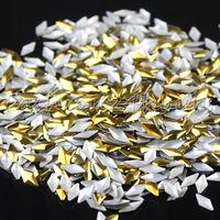 New 1000pcs/pack Rhombus Shape Gold Nail Decoration Metal Decoration For DIY Tips Decoration