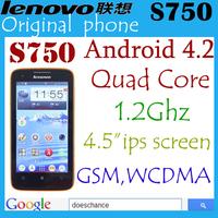 Original Lenovo S750 phone 4.5 Inch IPS Capacitive Quad Core Dual Camera Android 4.21 GB RAM 4GB ROM smart phones