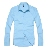 2013 men's spring and summer clothing fashionable casual long-sleeve shirt male slim shirt chromophous shirt