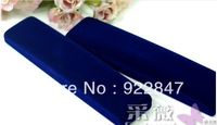 Free shipping,Wholesale 12pcs/Lot 22x5x2.8cm Dark Blue Fashion Velvet Jewelry Necklace Gift Packaging Display Box Case