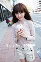 women's Long sleeve Round Neck Loose Stripe Shirt Top T Shirt Bottoming Shirt 3 colors free shipping