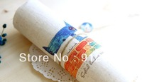 10PC 20*20cm  Looks at the cat  Hand Painting Dyeing Natural Cotton Linen Canvas Handmade DIY Patchwork Fabric Mix Order