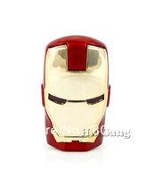 High Quality Wholesale Iron Man Ironman Mini Portable USB Flash Memory Drive U Disk 4GB 8GB 16GB USB 2.0