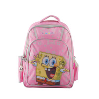 Freeshipping - Small SpongeBob School Children Backpack, Student School Bag, Kids School Book Bag, School Backpack SB-09001