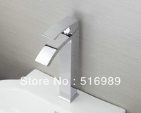 New Bathroom Deck Mount Single Hole Chrome Tap Faucet Waterfall tree79