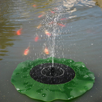 Portable Solar Power Decorative Fountain Pond Brushless Water Pump Floating Lotus Water Lily  3 Set Free Shipping