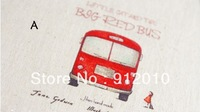 10PC 20*20cm  Bus travel   Hand Painting Dyeing Natural Cotton Linen Canvas Handmade DIY Patchwork Fabric Mix Order