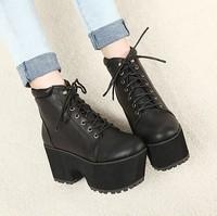 2013vivi women's shoes jouetie platform shoes rivet HARAJUKU boots platform shoes ankle-length boots