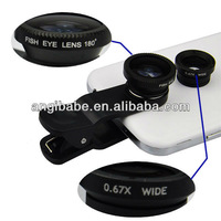Fish Eye Camera+ Macro + Wide Universal Clip Contact Lense Angle for iphone Samsung  HTC