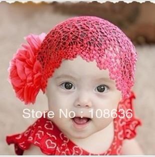 Free Shipping(10pcs/lot) Baby Fashion Floral Headwear Children Headband Fancy Baby Hats