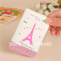 Free shipping Tower Passport Pouch Wallet Cover Case Card Holder Ticket bag