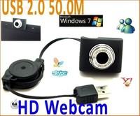 100PCS/LOT.USB 2.0 50.0M Mini PC Camera HD Webcam Camera Web Cam for Laptop Free