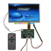 Free shipping , 7 inch car LCD monitor kit + driver board + LCD