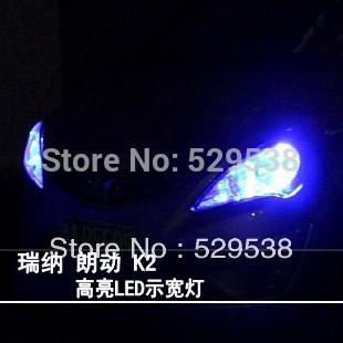 FOR  Hyundai Solaris Verna  k2 2010-2012 accessories super bright led width lamp decoration lamp small light,auto parts