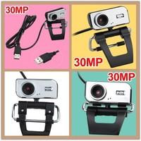 100pcs/lot.30.0 Mega Metal USB HD Webcam CMOS Web Camera Video Web Cam Camera CMOS for PC Laptop Free Shipping+Drop Shipping