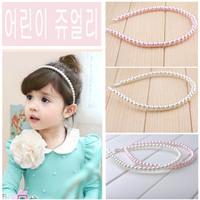 Free shipping girl children's imitation pearl hair hoop tire hair elegant sweet joker
