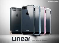 SPIGEN SGP Linear Metal Bumper+Crystal Back Shell Case For iPhone 5 5G,MOQ:1pcs,DropShipping,T0020