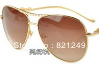 Fashion man metal sunglasses  luxury leopard head classic sunglasses glasses