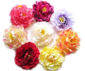 11cm Peony flowers head artificial silk flowers