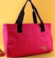 2014 color block canvas bag women's handbag women's handbag fashion handbag all-match shopping bag